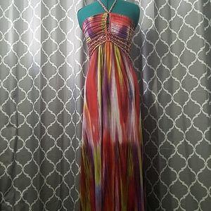 Cynthia Rowley multi color maxi dress